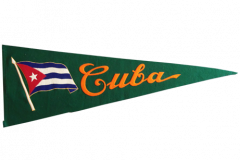 "Pennant, 34"" long Rare 1950's Cuban Baseball. $525.00"