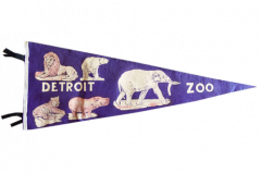 "Pennant 29"" long, 1950 Detroit Zoo $100.00"
