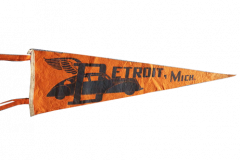 "Pennant 19"" long Detroit Golden Jubilee from 1940. $100.00"